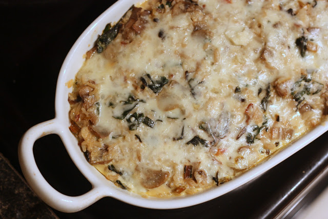 rice and mushroom casserole