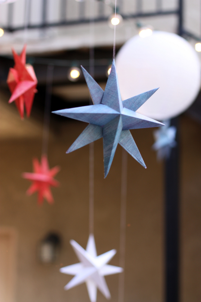 Paper Stars How To Make Hanging Stars Decorations Everyday Reading