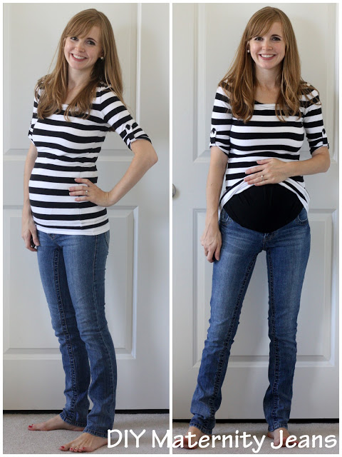 Make Your Own Maternity Jeans (Tutorial) - Everyday Reading