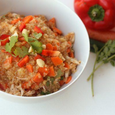 thai quinoa bowl