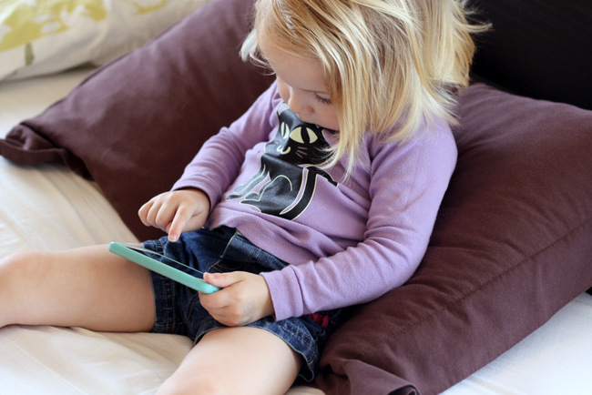 How one family regulates screen time for their little children