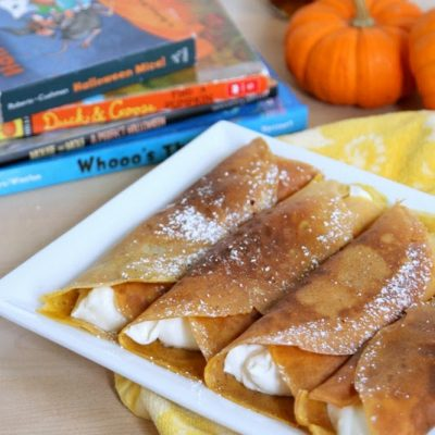 pumpkin cheesecake crepes