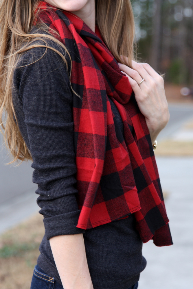 a buffalo plaid scarf an easy gift for under 5 everyday reading - Christmas Plaid Scarf