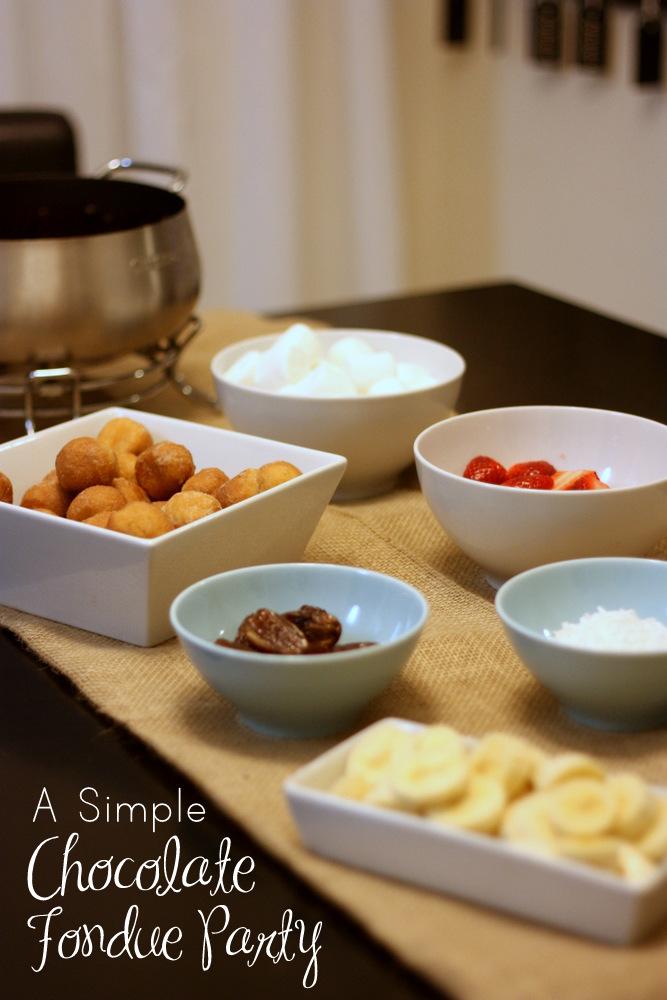 chocolate christmas fondue