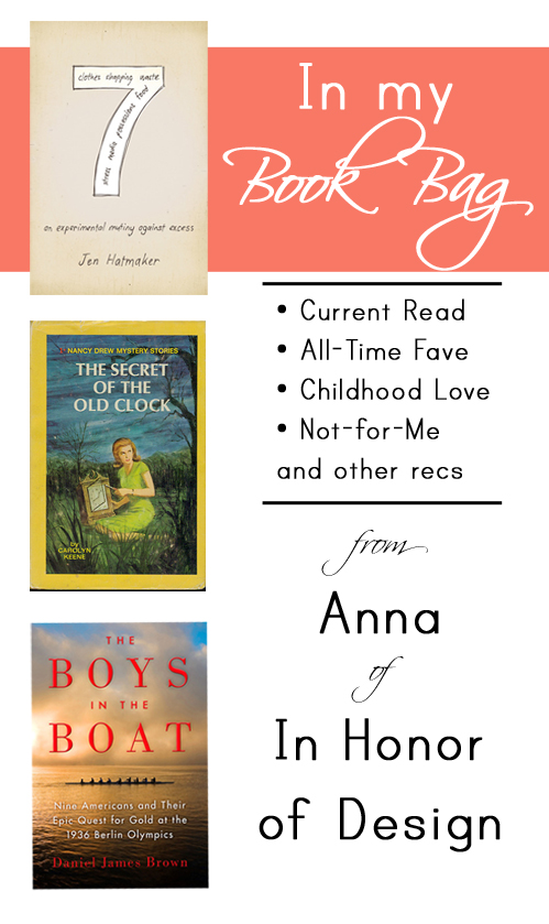 Great book recommendations from Anna of In Honor of Design