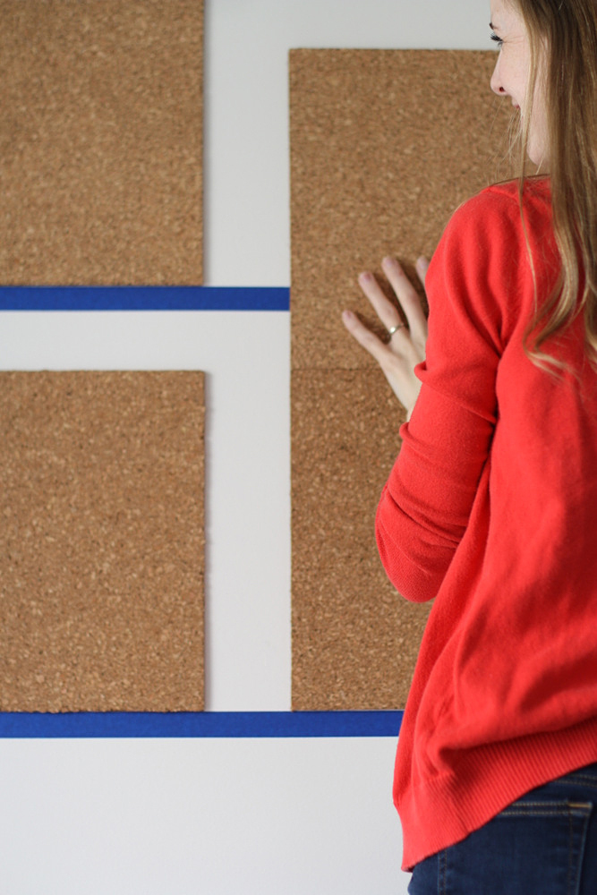 how to put up a cork board with nails