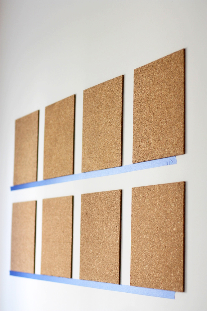 how to hang up cork board
