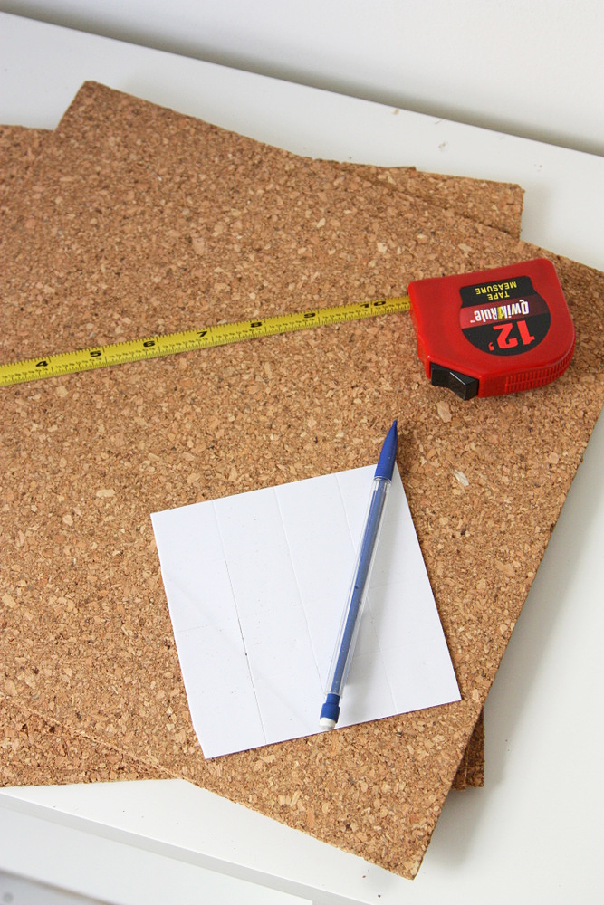 how to hang cork board on wall