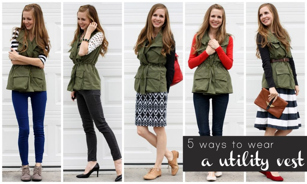 Wondering what to wear with your utility or military vest? Here are five great suggestions!