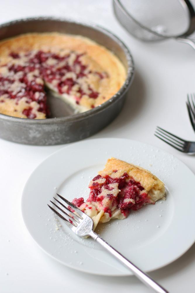 raspberry custard