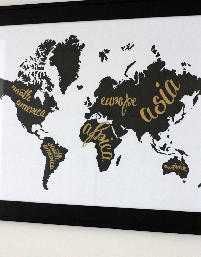 A Black and White World Map (and an office tour) - Everyday Reading