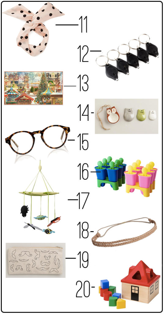 20 fantastic gifts for everyone for under $5. Perfect stocking stuffers, teacher gifts, or gift exchange presents!