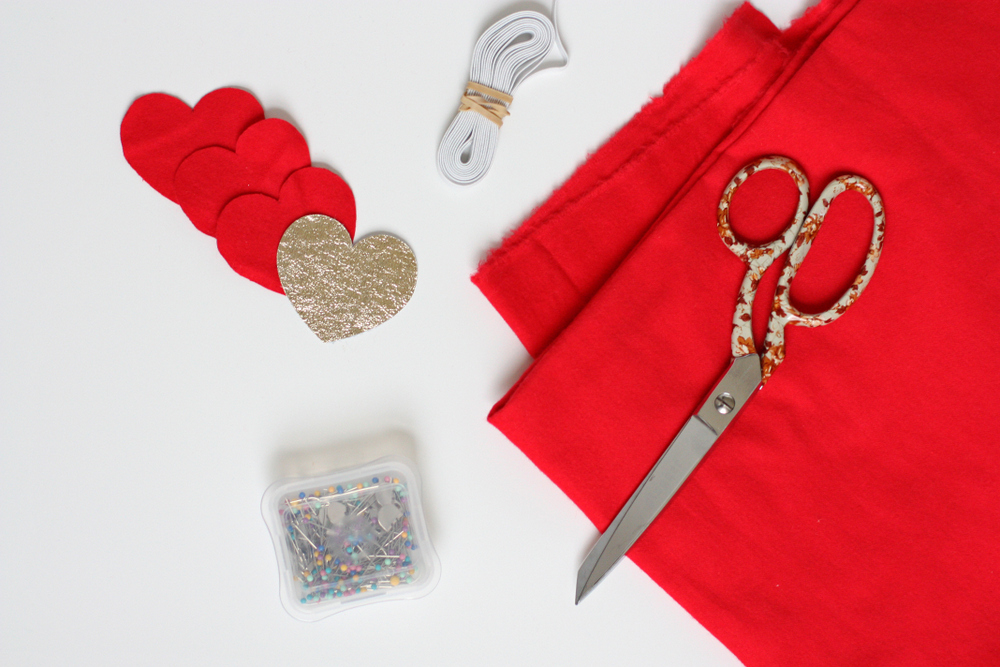 Make this festive headband in less than ten minutes! It's super cute for Valentine's Day.