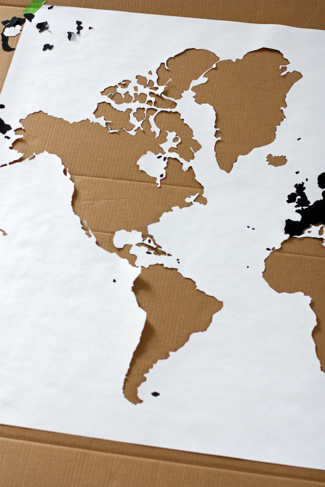 A Watercolor World Map Everyday Reading