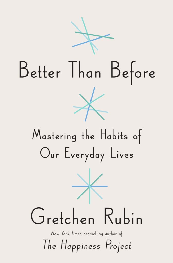 Gretchen Rubin's new book, Better Than Before, all about habits. Super interesting and useful.