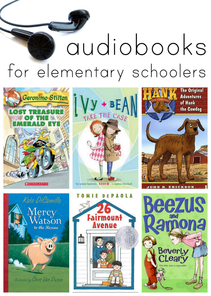 Great books for kids to listen to. These are perfect for quiet time or when you're on the road this summer!