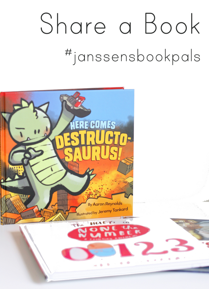 Share your favorite picture books this summer - read with your kids then pass the book along and see where it goes!  #janssensbookpals