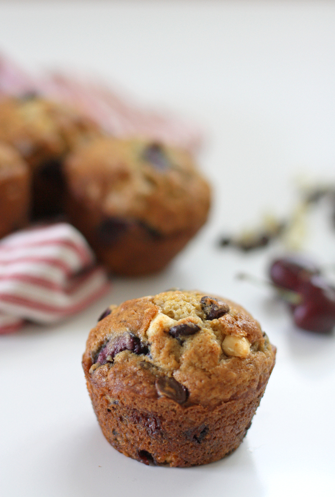 Double Chocolate Cherry Muffins – Everyday Reading