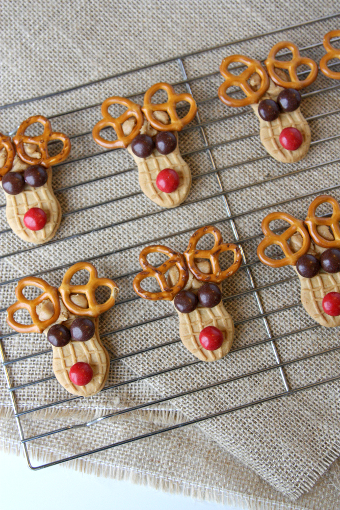 Peanut Butter Sandwich Reindeer Cookies
