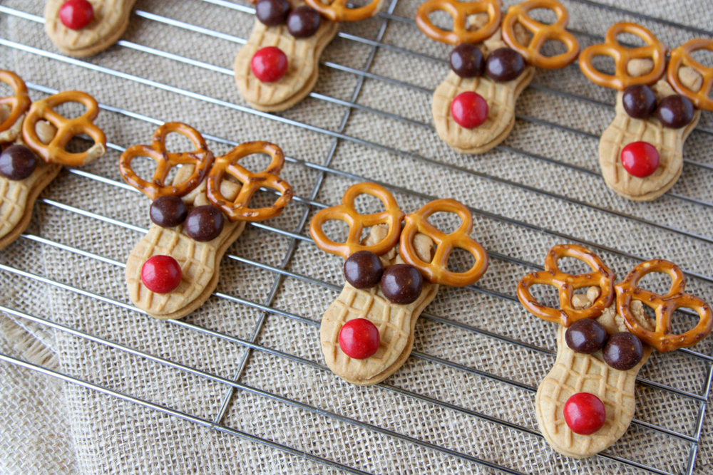 Peanut Butter Sandwich Reindeer Cookies Everyday Reading