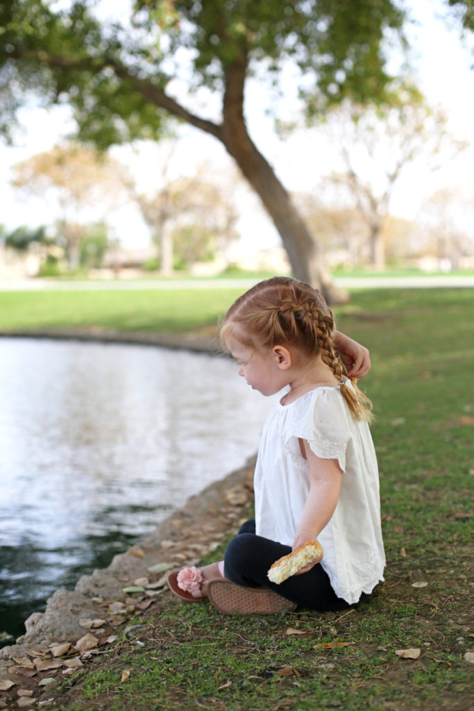 Simple spring breaking with kids