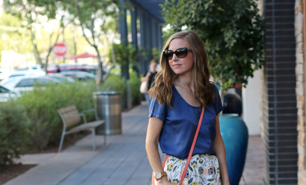 A casual summer skirt that dresses up or down