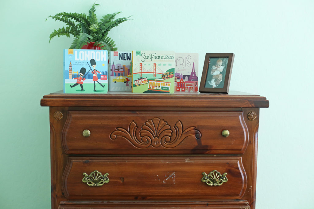 Easy spray paint makeover of a dresser - no primer required!