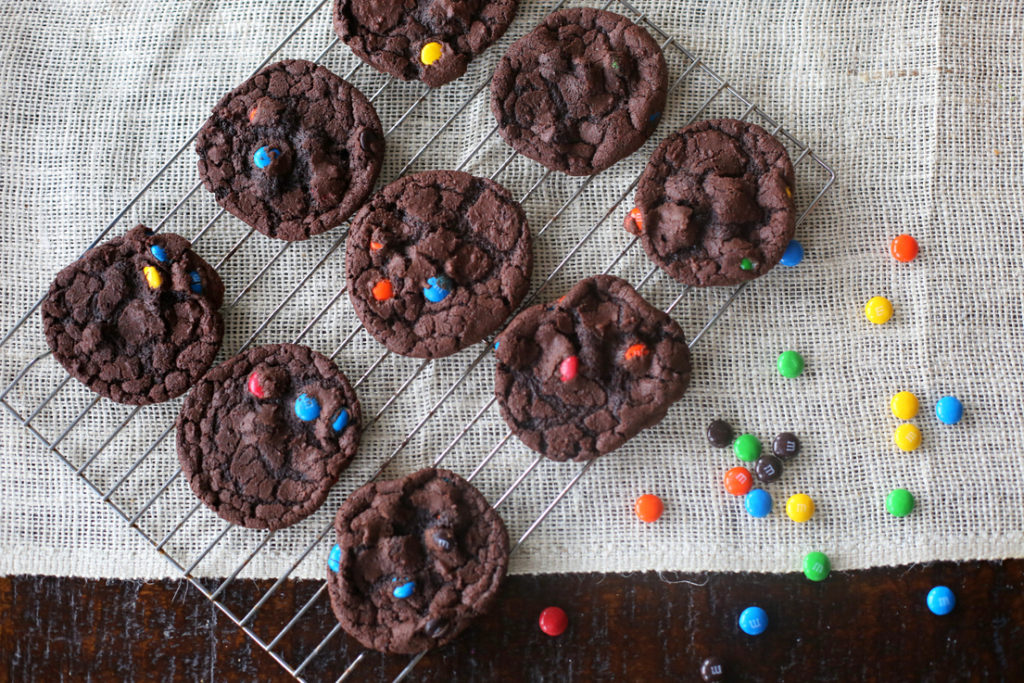 The best M&M cookies ever - crispy on the outside and chewy on the inside and studded with M&M's!