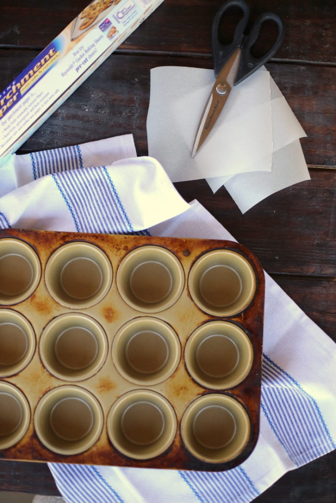 how to make parchment muffin cups