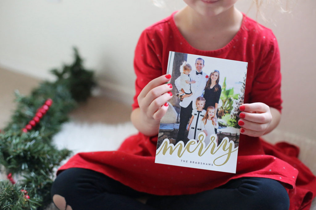 minted foil christmas cards