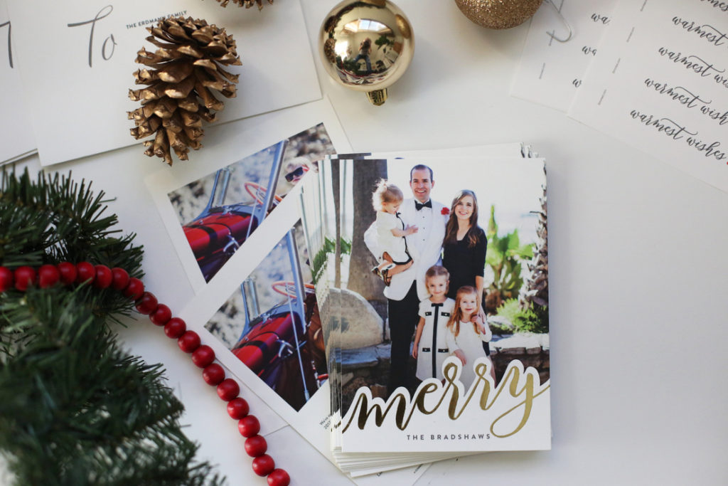 Shiny Gold Minted Christmas Cards - Everyday Reading