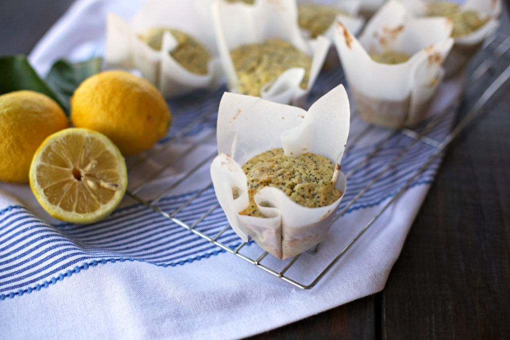Lemon poppyseed muffins...just like the ones you'd buy in a bakery!