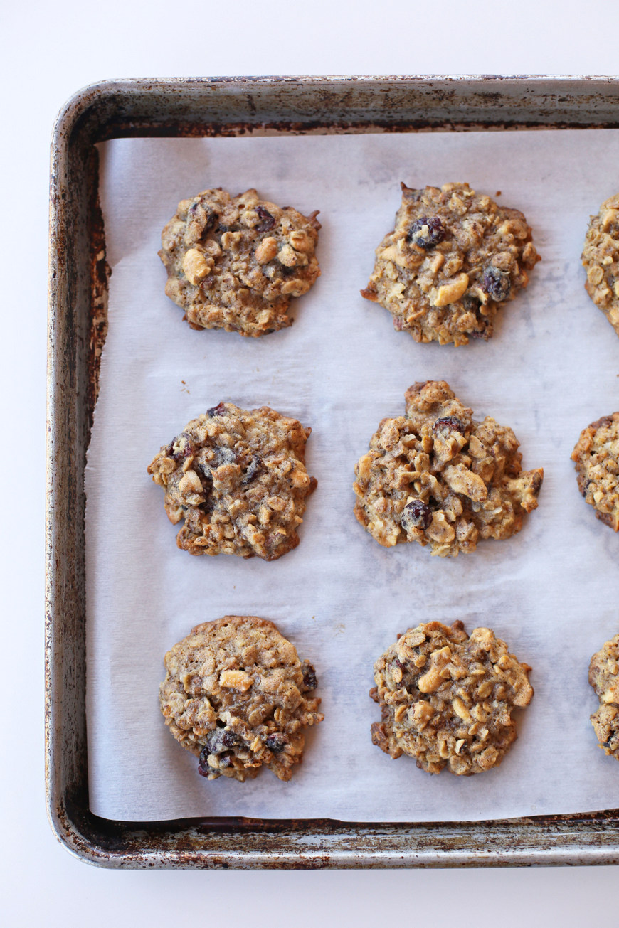 Packed full of goodies, these granola cookies are the BEST snack or treat