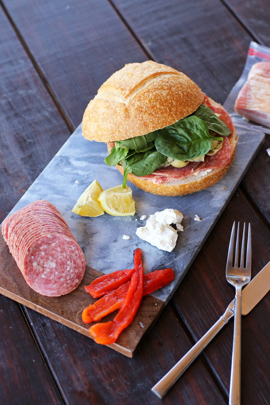 Easy make-ahead pressed sandwich - perfect for quick lunches or picnics!