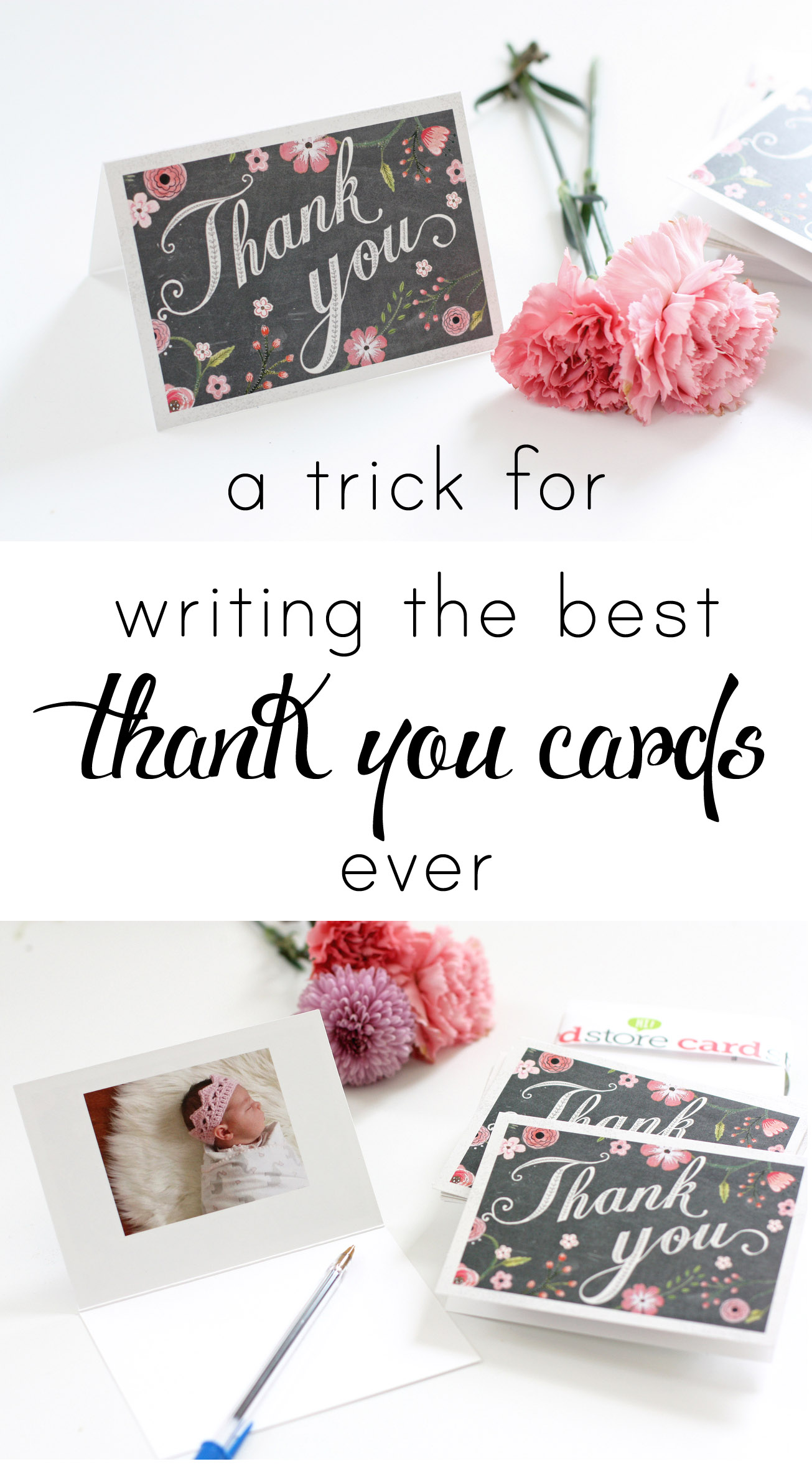 A simple way to make your thank-you cards more personal!