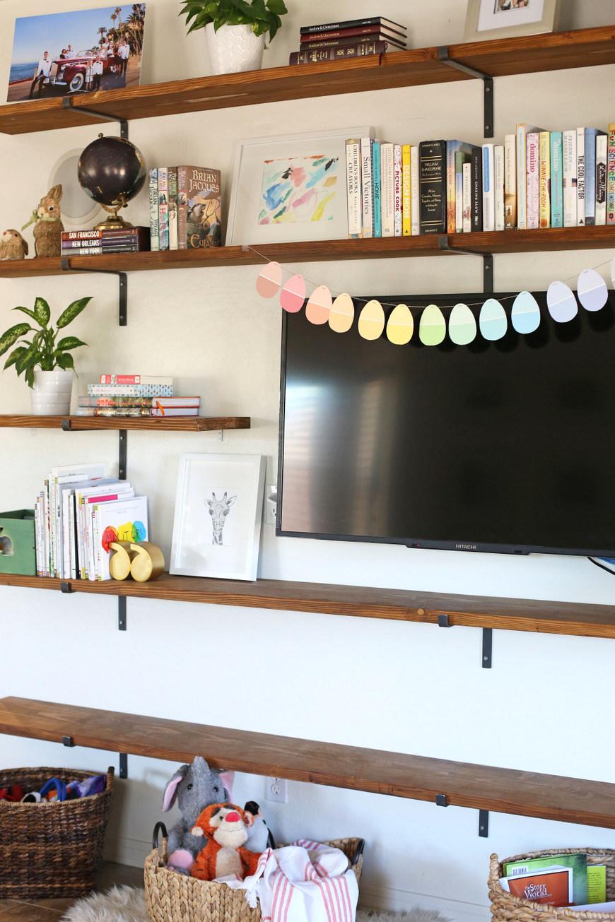 diy room shelves