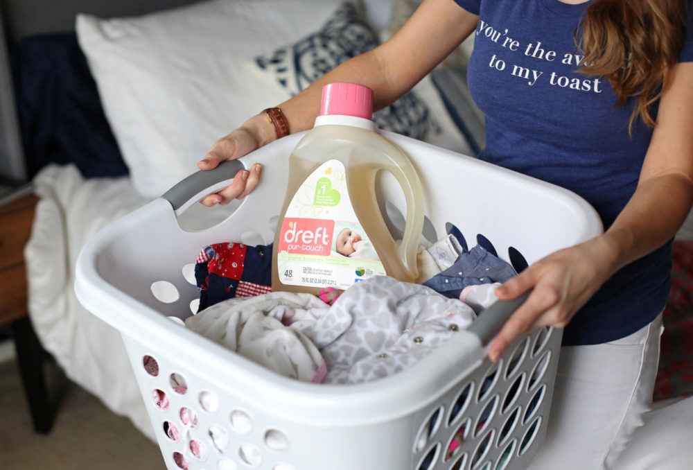 pre-washing baby clothes