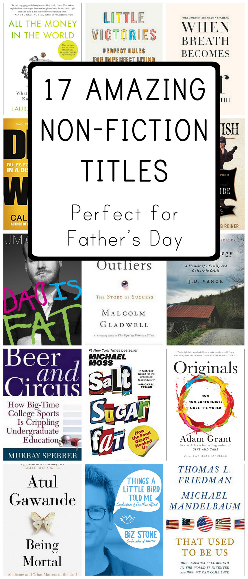 The best non-fiction books for men for Father's Day