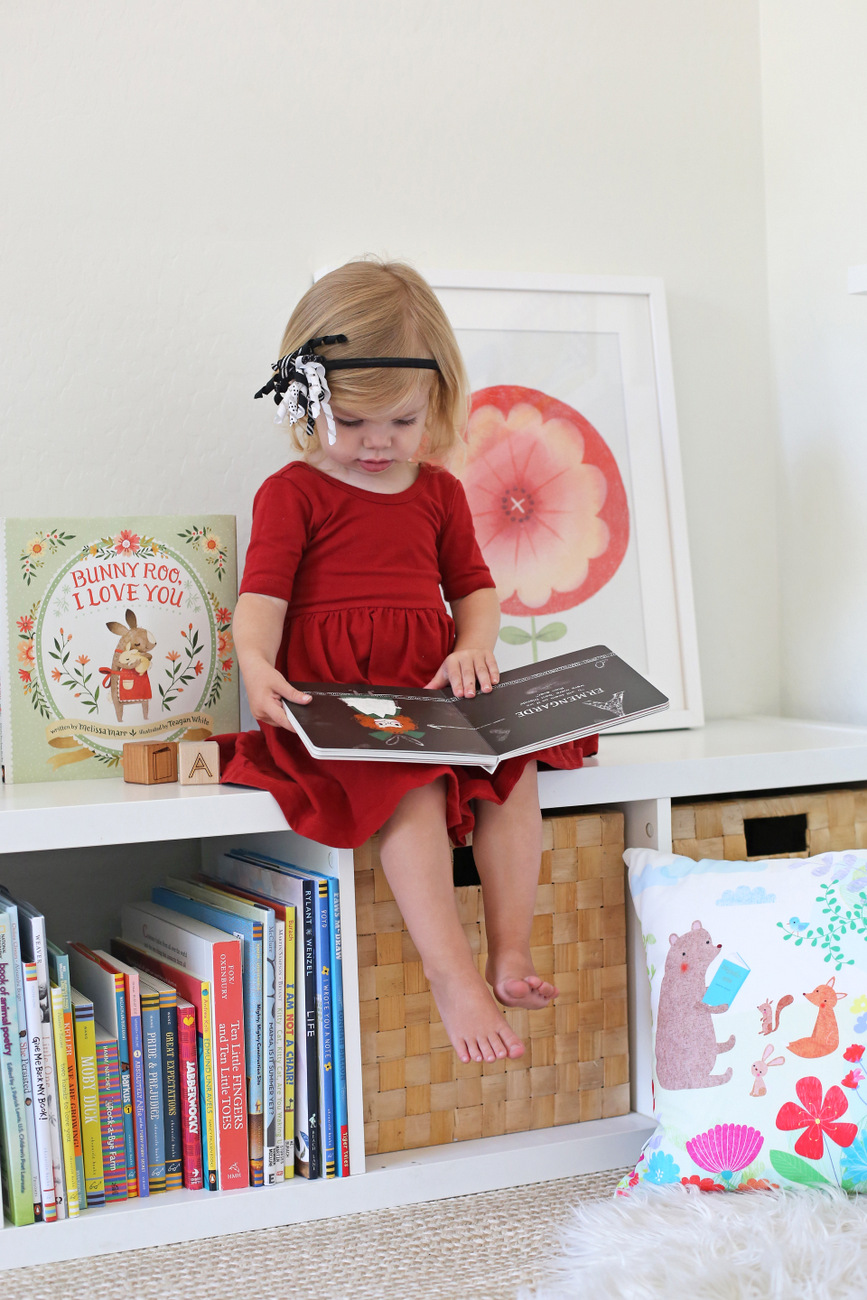 setting up a book nook