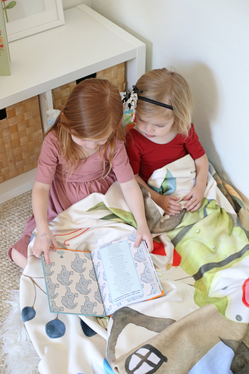 setting up a reading nook