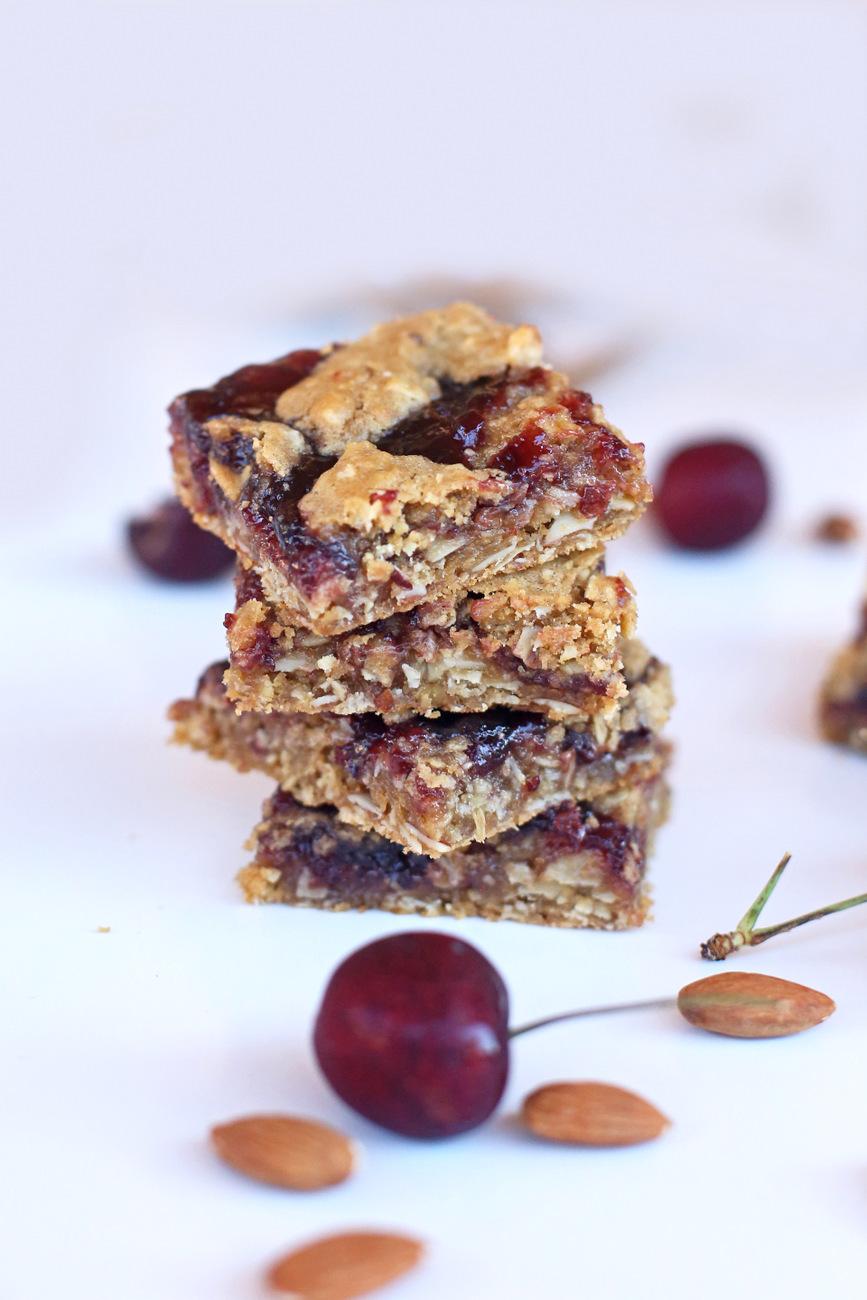 Cherry Almond Cookie Bars