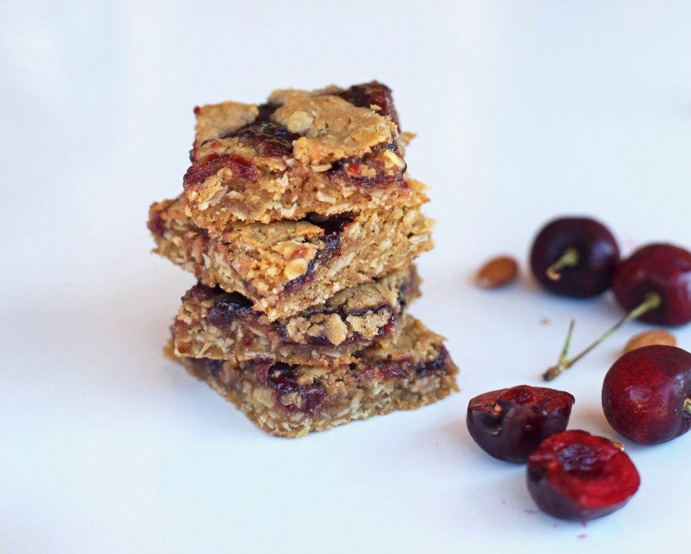 Cherry Almond Cookie Bars