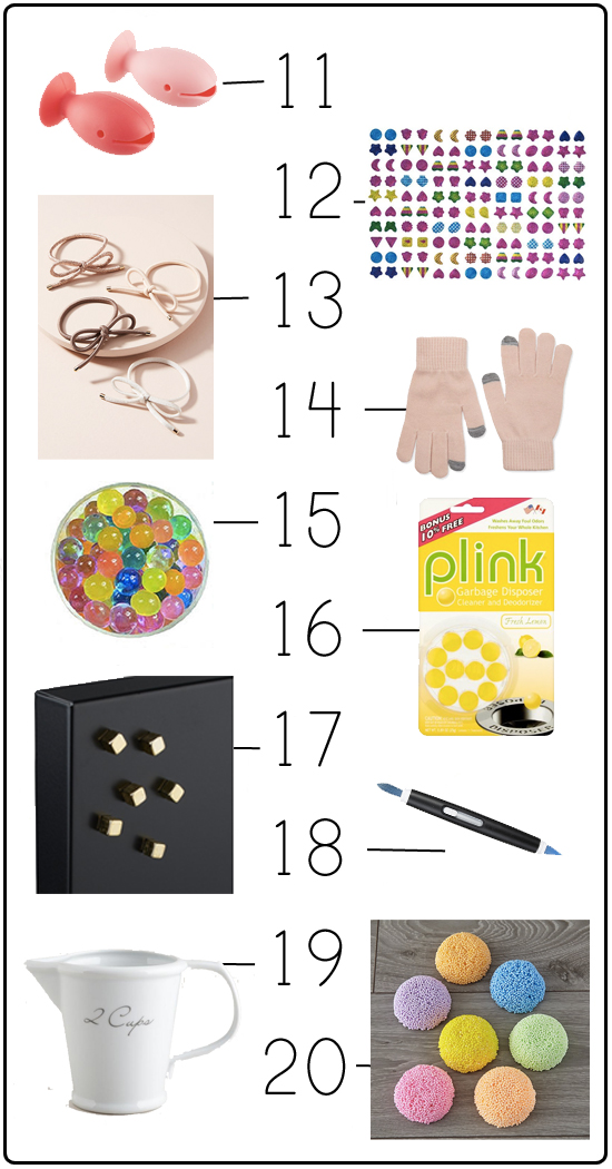 20 fun gifts under 5 dollars that are perfect for stocking stuffers for kids, teacher gifts, or neighbor or friend presents. See the whole list here!