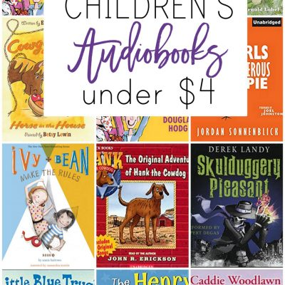 Audiobooks are a favorite around here. Click here to see 21 great audiobooks for under $4.