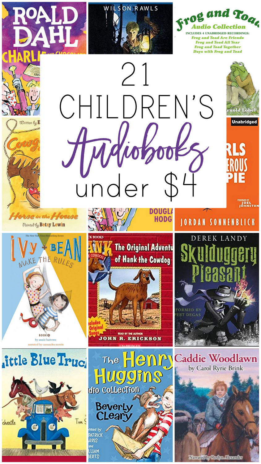 These 21 children's audiobooks are total winners and worth adding to your collection while they're on sale for less than $4