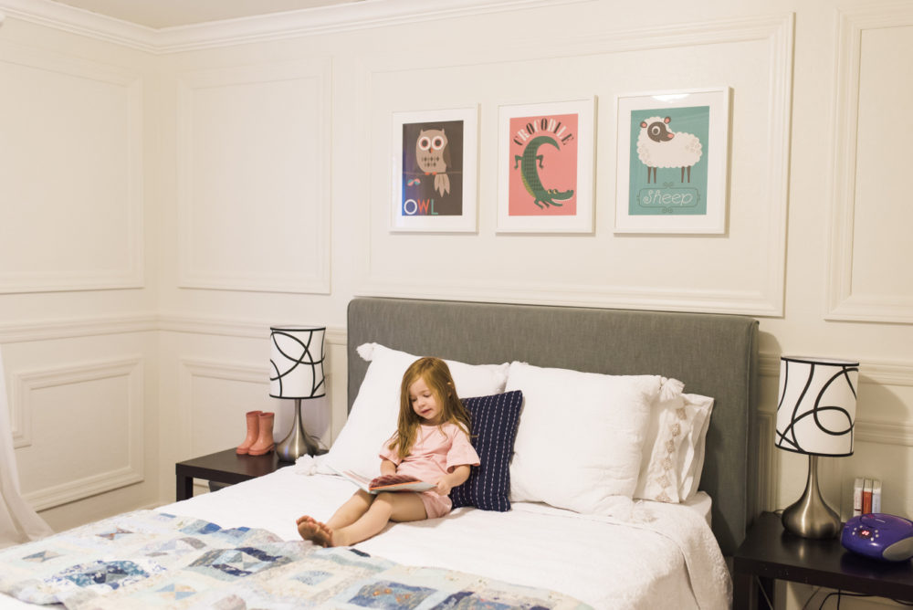 How we set up a little girl room as a guest room that's comfortable and sweet for her but functional for house guests as well