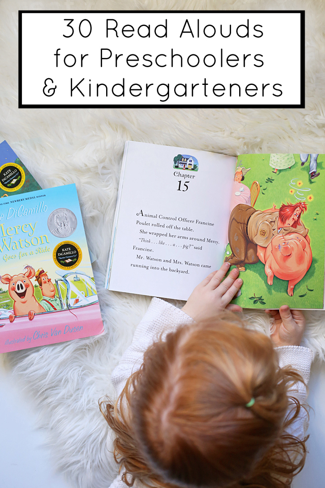 30 really great read aloud books for preschoolers - these easy chapter books are perfect for kindergarteners too!