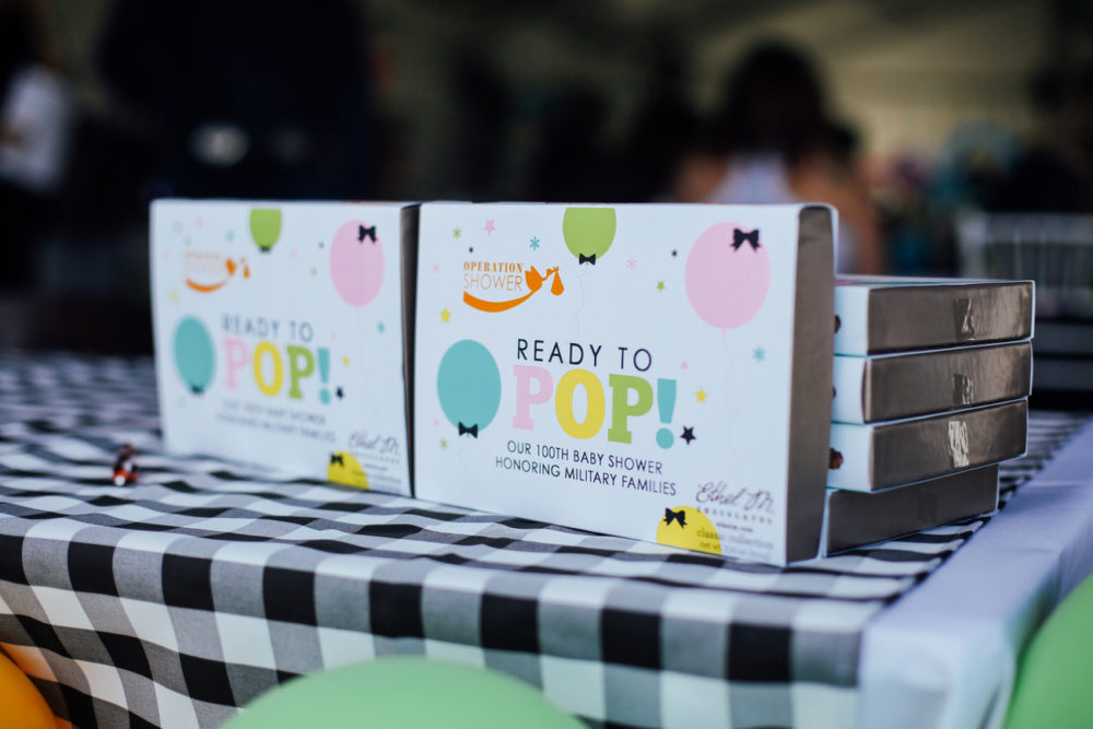 The cutest Ready to Pop baby shower hosted by Operation Shower for military moms and their families in Phoenix Arizona