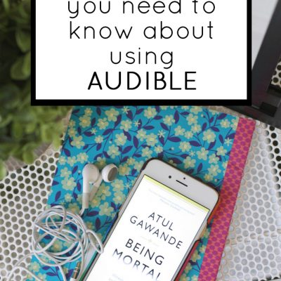 How to use the audible app for audio books