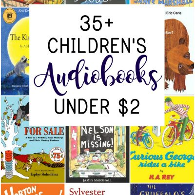 These 35 audio books for kids are less than $2 and the best audiobooks to add to your collection. These fantastic stories for kids will become family favorites!